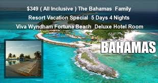 cheap bahamas all inclusive vacation packages club fortuna