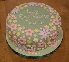 retirement cake ideas for women flower garden retirement cake