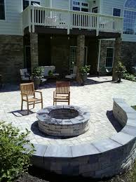 Stone Patio With Fire Pit Exterior Cool Natural Stone Design For Floor Material Plus