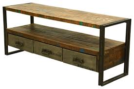 media cabinet with drawers fabulous industrial reclaimed wood iron 59 media console with