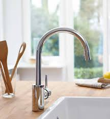 grohe kitchen sink faucets grohe feel starlight chrome pull kitchen faucet grohe
