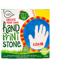 creative roots 2 5 in w x 2 5 in d handprint stone kit 64914a