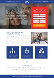 Debt Relief Options Explore Your Options Find Your Best And Effective Debt Relief Mini Landing Page Design Debt