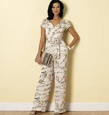 butterick 6320 misses u0027 sweetheart neckline dress and jumpsuits