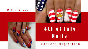 4th of july nails independence day nail art youtube