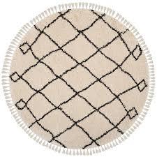 Safavieh Moroccan Rug Safavieh Moroccan Fringe Shag Kamilah Rug 6 7 X 6 7