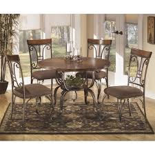 Ashley Plentywood  Piece Round Dining Table Set In Brown - Round kitchen table sets