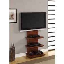 Wall Mount Tv Stand With Shelves Wall Mount Tv Stand With 3 Shelves Black For Tvs 37