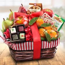 christmas fruit baskets treasures fruit and gourmet basket aa4050 a gift inside