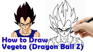 draw vegeta dragon ball hde