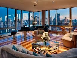 wohnideen farbe penthouse luxuriöse einrichtungsideen toller bodenbelag in 2 farben sofa