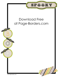 Free Printable Halloween Paper by Free Halloween Border Printables Customize Onine