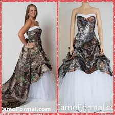 2016 camouflage draped skirt ball gown camo wedding dresses with