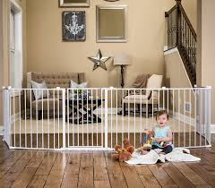 Child Stair Gates Regalo 192 Inch Super Wide Gate And Play Yard White Amazon Ca Baby