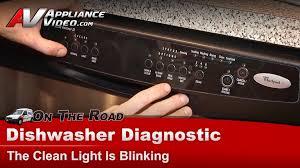 dishwasher heavy light flashing whirlpool maytag dishwasher clean light blinking shorted