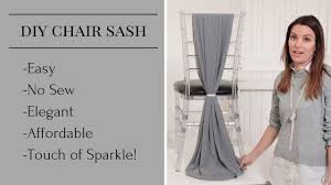 diy chair sashes diy chair sash chair sash styles chair sash tutorial