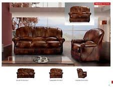 Traditional Leather Sofas Classic Cleopatra Traditional Leather Sofa Set Modern Design Ebay
