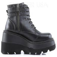 motorcycle ankle boots shaker 52 lace up front stacked wedge ankle boot gothic ankle