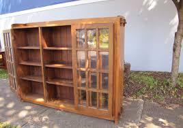 Stickley Bookcase Antique Rare L U0026jg Stickley Three Door Bookcase W3227 Joenevo