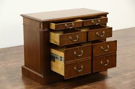 5 Drawer Lateral File Cabinets by Custom 6 Drawer Lateral Walnut Executive Vintage Office File