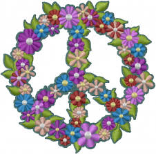 peace sign flowers embroidery designs machine embroidery designs