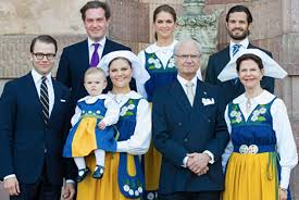 members of the swedish royal family celebrate national day video