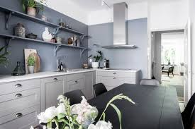 Kitchen Wall Design Blue Kitchen Wall Coco Lapine Designcoco Lapine Design