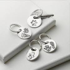 jewelry key rings images Your pet 39 s paw print key ring by touch on silver jpg