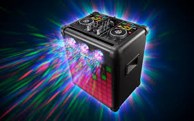 Party Speakers With Lights Party Mix Pro Dj Controller With Built In Light Show U0026 Portable