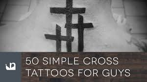 50 simple cross tattoos for