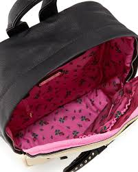 book bags with bows betsey johnson colorblock backpack with bow black