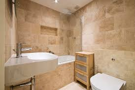 Bathroom Natural Modern Luxury Bathroom With Natural Stoned Walls Stock Image