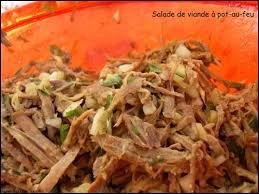 cuisiner un pot au feu salade de viande ou que faire avec du pot au feu mes envies et délices