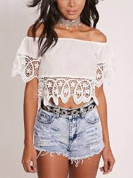 strapless blouse white strapless stitching lace shoulder blouse tank tops
