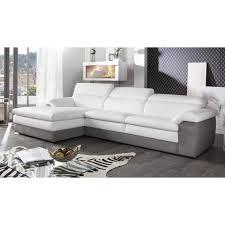 canap d angle blanc et gris canapé d angle blanc et gris intérieur déco