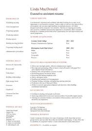 executive assistant resume templates student entry level executive assistant resume template