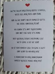 Wedding Gift List Wording Innovative Wedding Wording Ideas For Invitation Weddings Eve
