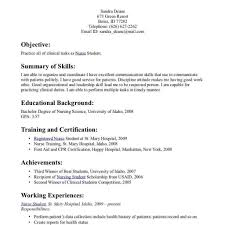 Resume Sle For A Nursing Student Student Resume Sles Apa Empirical Research Papers Garment