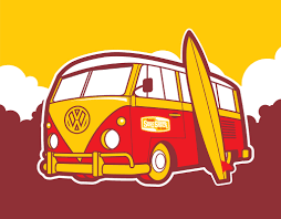 volkswagen van with surfboard clipart vw bus vw bus