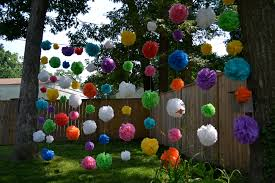 backyard summer decorating ideas garland outdoor