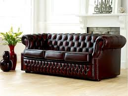 Leather Chesterfield Style Sofa Brown Leather Chesterfield Sofa Second Fabrizio Design