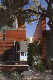 wood and metal fence ideas exterior contemporary with geometric