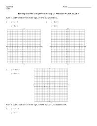 solving systems of linear equations by substitution worksheet doc using all methods capacitor schematic symbol