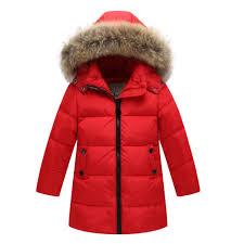 online shop down coat for kids 90 white duck down girls travel
