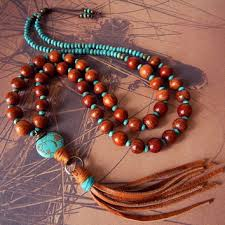 leather necklace turquoise stone images Leather tassel necklace turquoise stone from prayerfeather on jpg