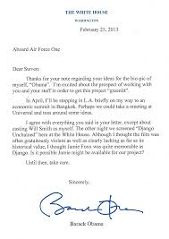 letter sample 5 to steven spielberg from president obama obama
