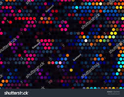 Led Light Color Led Light Color Dot Style Graphic Stock Illustration 708639487