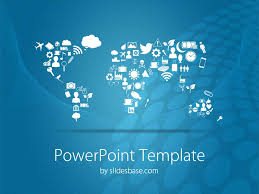 powerpoint template world symbolic world map powerpoint template
