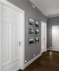 gray walls white trim floors by manda color design