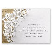 reception invitations lacy reception card invitations by